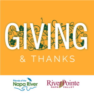 Giving and Thanks, brought to you by RiverPointe Napa Valley and Friends of the Napa River